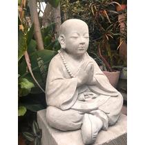 Escultura Niño De Tíbet Mediano