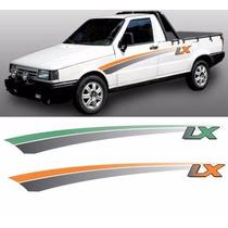 Kit De Faixas Adesivo Pick-up Fiorino Lx 94 Laranja Ou Verde