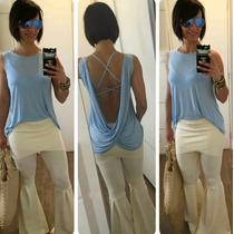 Calca Flare Malha Branca Reveillon Moda Instagram Blogueiras
