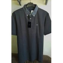 Camisa Polo Masculina Elle Et Lui Cinza Chumbo Tamanho M