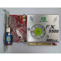 Placa De Vídeo Agp Geforce Fx5500 256 Mb 128 Bits Tv Nvidia