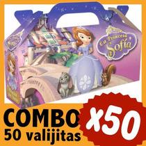 Sofia Princesa Cajita Valijita Bolsita Souvenir Combo X 50