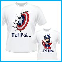 Kit Tal Pai Tal Filho Capitão América, Herois, Marvel, Vinga