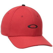 Gorra Oakley Hombres De Silicon Cap 2.0 Red Line, Small / M