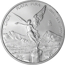 Moneda De Plata Pura .9999 Libertad 2015 Mexico 1 Oz