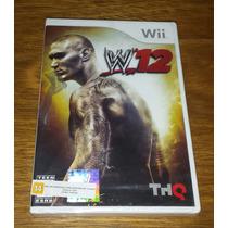 W12 Wwe Luta Livre Wrestling Nintendo Wii Original Lacrado