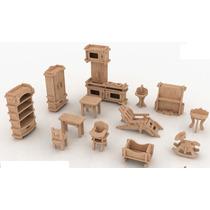 Muebles Miniatura Casa De Muñecas Mdf Kit Gmcm022