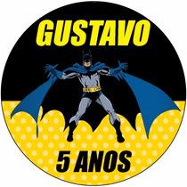 48 Rotulo Latinha Adesivo Aniversário Batman Personalizado