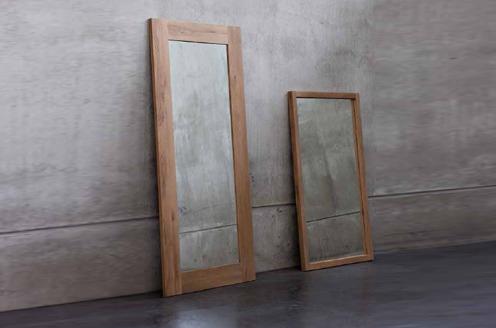 espejos con marco de madera diseo moderna minimalista