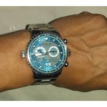 Burberry Endurance Estupendo Reloj De Acero Cronógrafo Jumbo