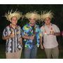 Sombreros De Paja Para Fiestas Hawaianas, Playeras