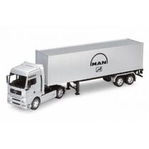 Miniatura Caminhão Man Tg510a Conteiner 1:32 Welly