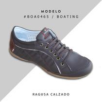 Zapatillas De Cuero Boating Hombre - Envíos Gratis!!