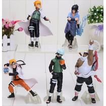 Kit 5 Bonecos Naruto Sasuke Itachi Killer Bee Minato