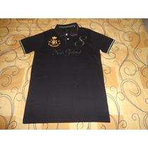 Camisa Polo Zara Preta New Zeland Tamanho P Novo Etiqueta
