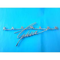 Emblema Volkswagen Karmann Ghia 1955 - 1965 Tapa De Motor