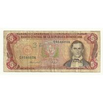 Billete Republica Dominicana 5 Pesos Oro (1988) Sanchez