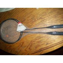 Gcg 1 Juego De 2 Raquetas De Badminton Niños Y Galllito Au1