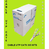 Bobina Cable Para Red Cat6 Utp 305mt, Cómputo,internet