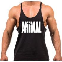Camiseta Regata Super Cavada Animal Pak Musculação Academia.