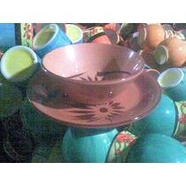 Plato Pozolero Y Servilleteros De Barro O Ceramica Jbr