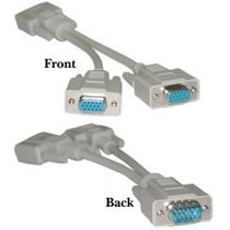 Cable Video Splitter Vga, Conecta 2 Monitores Vga A Tu Pc