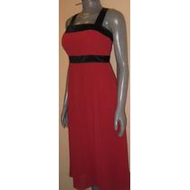 Vestido Rojo, Talla 6 Marca After Six, De Tirantes