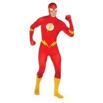 Disfraz De Flash Segunda Piel Bodysuit Para Adultos