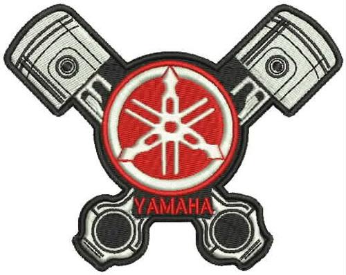 patch bordado md35 pistons yamaha moto logo jaqueta colete r 7 90 em mercado livre. Black Bedroom Furniture Sets. Home Design Ideas