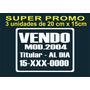 Calco Vendo Auto, Promo 3x1 Ploteo, Sticker De Vinilo