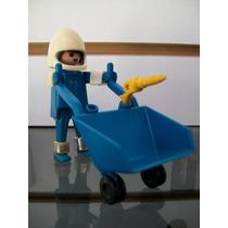 Astronauta Con Carretilla Playmobil Vintage