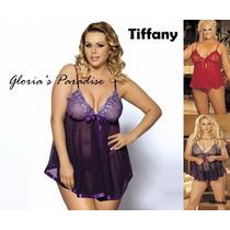 Lencería Sexy Babydoll + Less Talle Grande Encaje Tiffany