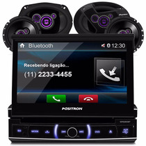 Toca Cd Dvd Positron Bluetooth + Kit Alto Falante Pioneer