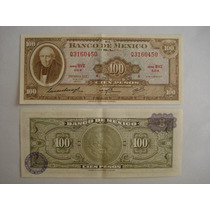 Billetes Antiguos 100 Pesos. Hidalgo. Año 1973. Sin Circular