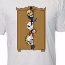 Camiseta Caveiras Esqueleto, Jack, Motoqueiro Fantasma