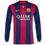 Camiseta Manga Larga Barcelona Fc Local 2015
