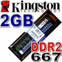 Memoria Ram 2 Gb, Ddr2 667 Mhz Pc2-5300 Kingston Para Pc