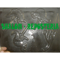 *molde Paletas De Chocolate De Dinosaurios T-rex Triceratops