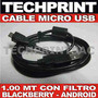 Cable Micro Usb Con Filtro Celular Blackberry Android Chino