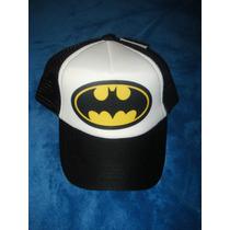Gorra Batman Classic Escudo Con Red Negra Con Blanco