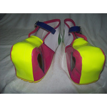Gcg Zapatos De Payasa Para Niña Amarillo Numero 21