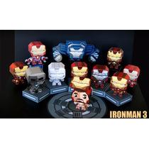 Ppkf 004, 12 Moldes De Iron Man Para Modelar En Papel 2x1