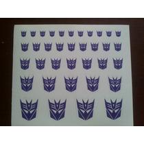 Logo Decepticons Fondo Blanco Transformers Reprolables