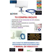Antena Wifi 5800mw 58dbi Signalking Sk-10tn Auditorias Srt