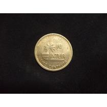 Moneda Cubana De 10 Centavos 1989