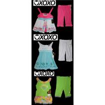 Envio Lote Nina Bebe 6 Pz 12 Meses Xoxo 3 Conjuntos Leggings