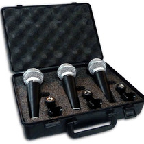 Combo Micrófonos Samson R21 X 3 + 3 Cables 4.5mts Xlr