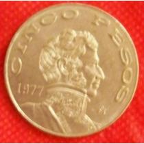 5 Pesos 1977 México Moneda General Vicente Guerrero - Hm4