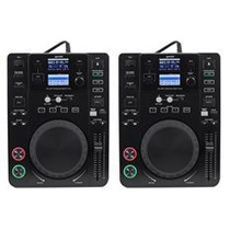 (2) Gemini Cdj-650 Tabletop Dj Cd/mp3 Media Players W/ Midi