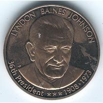 Medalla Del Presidente Lindon B Johnson, Presidente # 36 Usa
